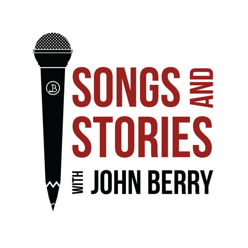 Custom WordPress web design for live songwriter show Songs and Stories, featuring John Berry.